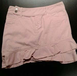Allen   Adorable Ruffled Mini Skirt Pink